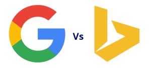 google vs bing 2
