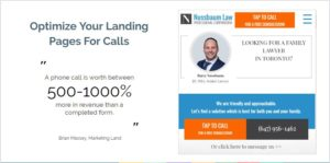 Optimize Landing Pages for Click To Call
