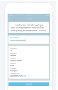 Automatically Populated LinkedIn Lead Gen Form